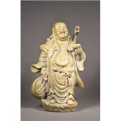Chinese Hardstone Figure of Happy Buddha