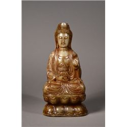 Finely Carved Chinese Shoushan Guanyin