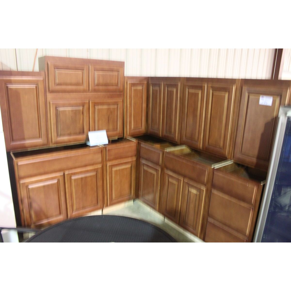 13 piece cherry kitchen cabinet set able auctions. Black Bedroom Furniture Sets. Home Design Ideas