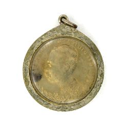Vintage' Thai Silver Rama V Nickel Coin Amulet in Nickel Pendant Case (ANT-1202)