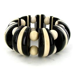 350ct Horn Bone Shell Stretch Bracelet (JEW-3556)