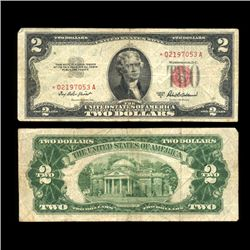 1953B $2 US Note Nice Condition SCARCE (COI-4711)