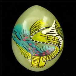 Chinese Painted Jade Carved Egg (ANT-1654)