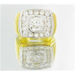43twc Lab Diamond 22k Gold Vermeil Ring (JEW-2363)