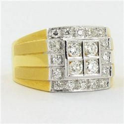 .8ct VVS Diamond Mens New 22k Gold Ring (JEW-1131)