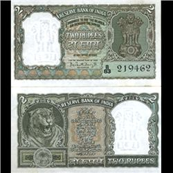 1962 India 2R Crisp Uncirculated Olive Variety (CUR-06197)