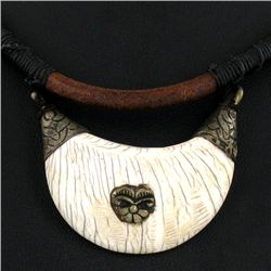 Tibet Bone Nickel Bead Choker Necklace (JEW-3205)