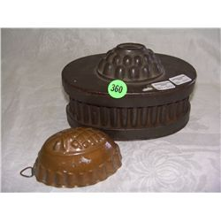 antique copper jello molds