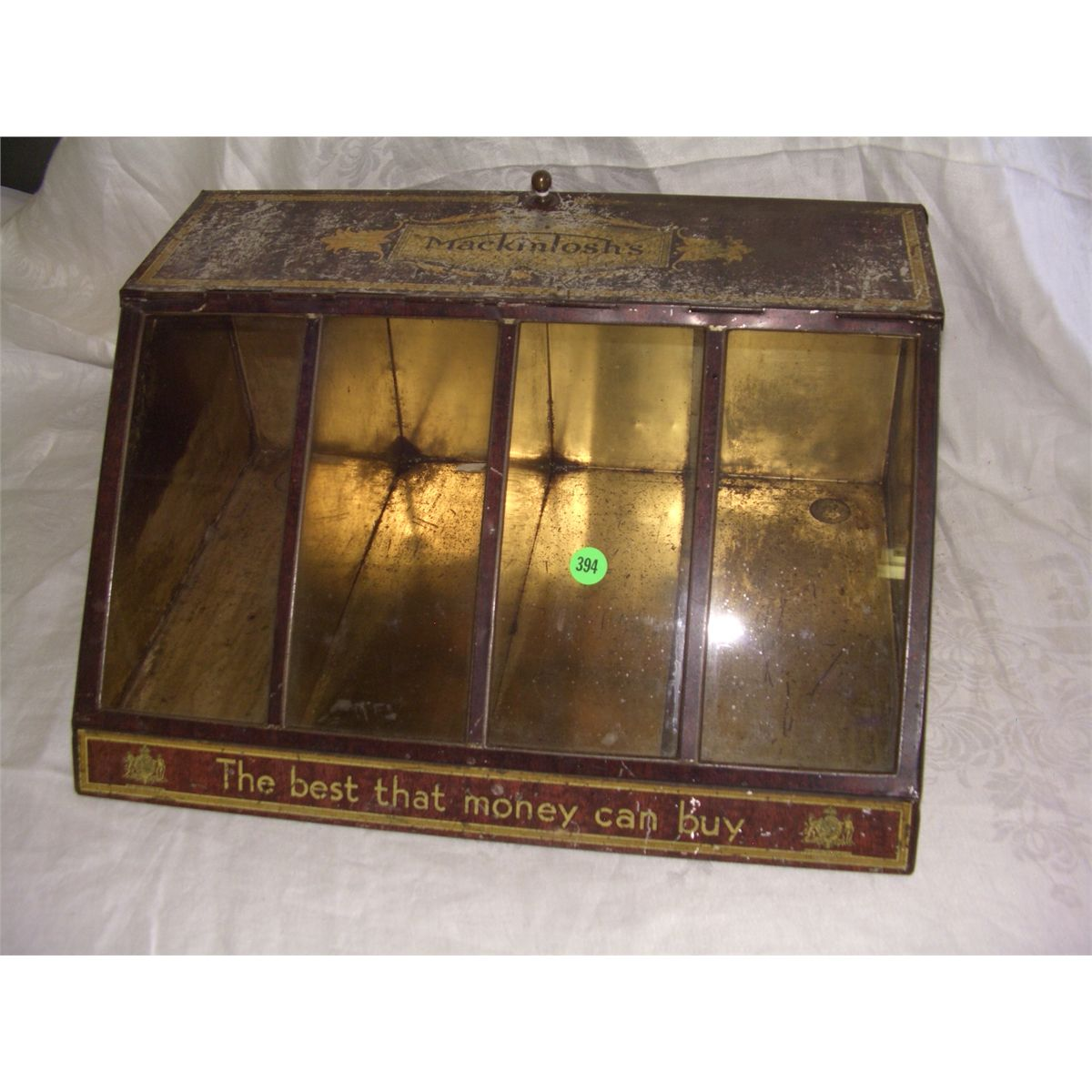 John Mackintosh Store Display Tin Cabinet Box Advertising