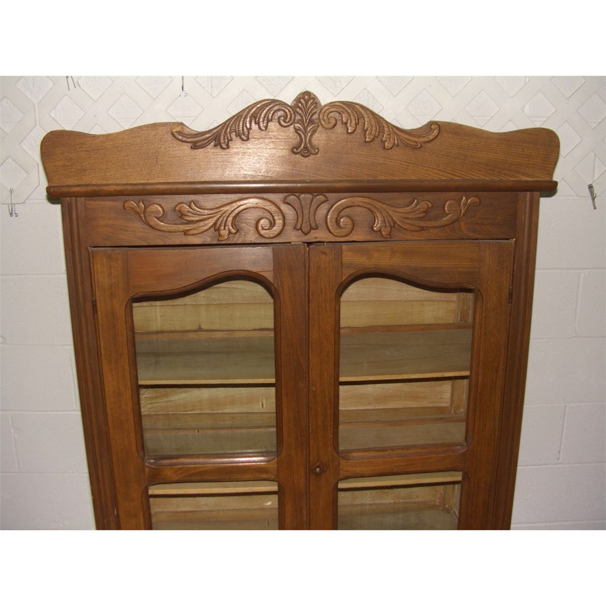 Wonderful image of Image 2 : nice antique oak? kitchen cabinet with applied carving SSR with #482813 color and 1200x1200 pixels