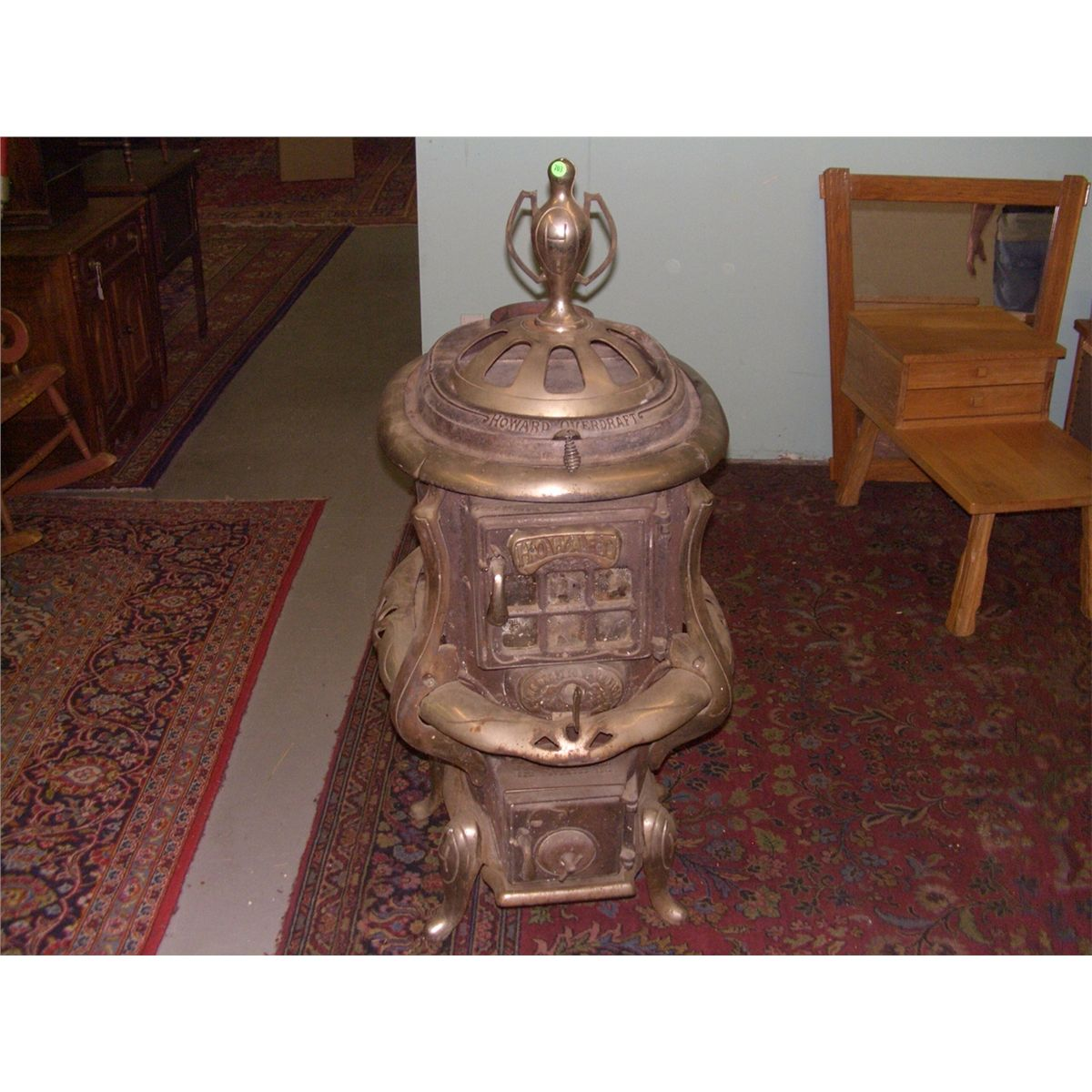 antique howard wood burning stove as seen ssr