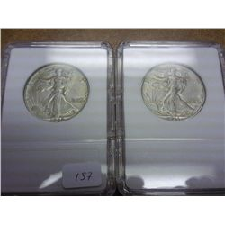 1942 & 43-D WALKING LIBERTY HALF DOLLARS
