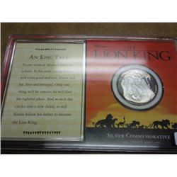 LION KING 25 GRAM SILVER MEDAL PROOF .999 SILVER