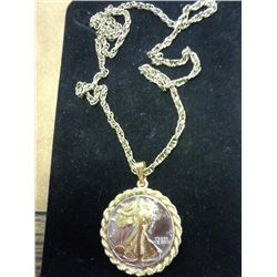 1942 WALKING LIBERTY HALF DOLLAR NECKLACE