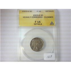 1923-S BUFFALO NICKEL F15 DETAILS