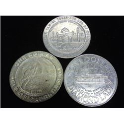 3-$1 CASINO TOKENS (EL CASINO, ISLE OF CAPRI &