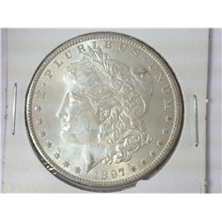 1897 MORGAN SILVER DOLLAR (UNC)