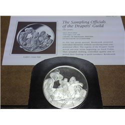 2 OZ STERLING SILVER REMBRANDT PROOF MEDAL