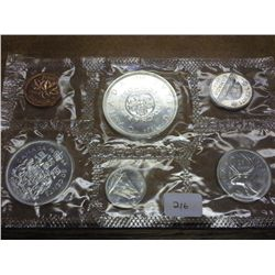 1964 CANADA SILVER PROOF LIKE SET 1.1 OZ SILVER