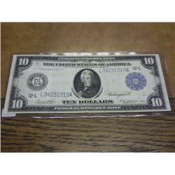 1914 LARGE SIZE $10 FRN