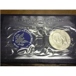 1973-S IKE SILVER DOLLAR (UNC) BLUE PACK