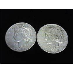 1922 & 22-S PEACE SILVER DOLLARS