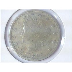 "1883 NO CENT LIBERTY ""V"" NICKEL"