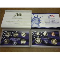 PARTIAL 2007 US PROOF SET (WITH BOX)
