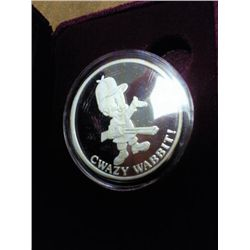 1 TROY OZ .999 FINE SILVER ROUND LOONEY TOONS PF