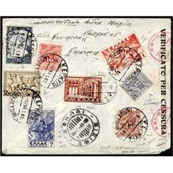 Corfu   1941 1d Airmail plus 14 additional st