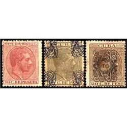 Cuba   1880-1883, Three Different Varieties i