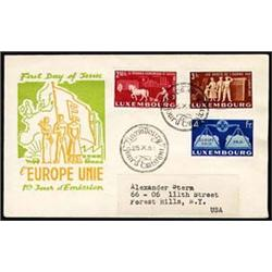 Luxembourg   1951 United Europe Issue, two se