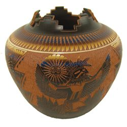 Acoma/Laguna Pottery Jar - JR D. Aragon