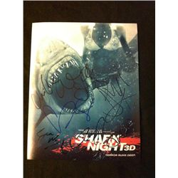 Shark Night 3D Cast Signed Photo