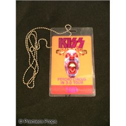KISS Gene Simmons Autographed Backstage Pass Movie Props