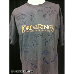Lord of the Rings Cast Autographed T-Shirt