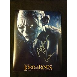 Lord of the Rings Photo Signed by Andy Serkis
