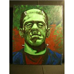 Oversized Painting of Boris Karloff as Frankenstein's Monster