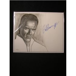 Arnold Schwarzenegger Signed Drawing