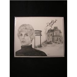Janet Leigh Signed Drawing