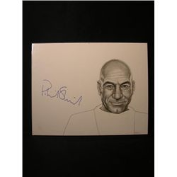 Patrick Stewart Signed Drawing