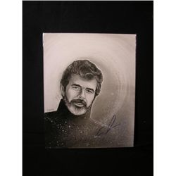 George Lucas Signed Drawing
