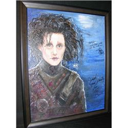 Johnny Depp and Tim Burton Signed Drawing