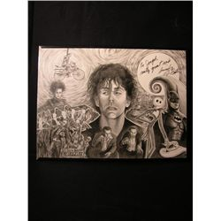 Tim Burton Signed Drawing
