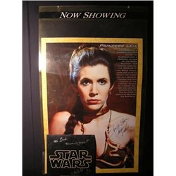 Return of the Jedi (1983)  Princess Leia (Carrie Fisher) Signed Poster