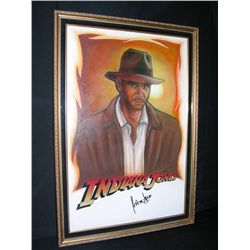 Harrison Ford As Indiana Jones Signed Painting