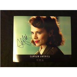 Captain America Photo Signed by Hayley Atwell