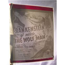 Frankenstein Meets the Wolf Man  Negative
