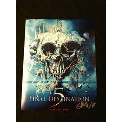 Final Destination 5 Photo Signed Cast Photo