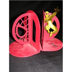 Autographed Spider Man Bookends